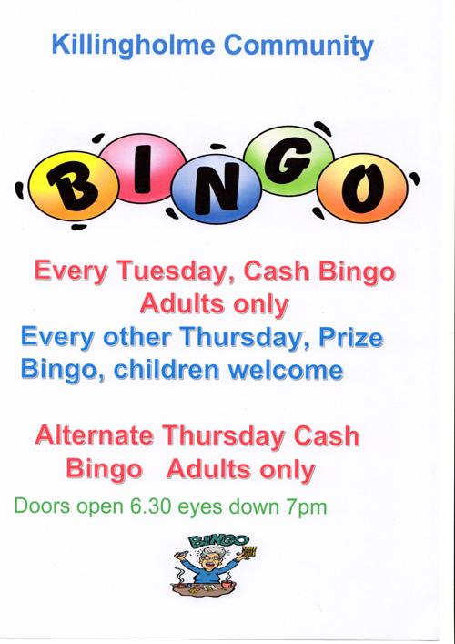 Bingo - every Tuesday poster